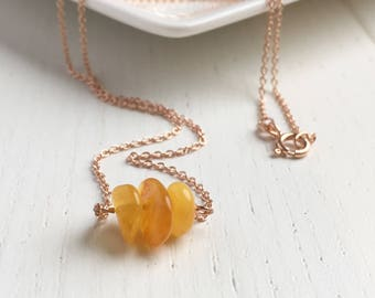 Amber Necklace, Yellow Amber, Baltic Amber Pendant, Rustic Necklace, Healing Amber, Necklaces For Women, Genuine Amber Jewelry, Amber Gift