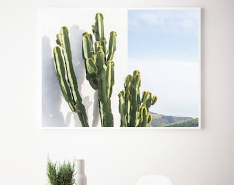 Cactus wall art print, printable cactus poster, desert photography, digital download, Instant download, cactus home decor, cactus wall decor