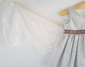 Dot Dress - Baby, Toddler, Child, Girl, Fairy Tale, Wings, Goldilocks, Bears, Whimsical, Fall Dress, Fall, Woods, Boho, Modern