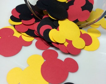 Mickey Mouse Confetti | Mickey Mouse Birthday | Mickey Mouse Decor | Mickey Mouse Theme Party | Mickey Mouse Die Cuts | Mickey Mouse Party