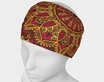 Boho headband, Boho scarf, Mandala headband, Mandala scarf, Yoga headband