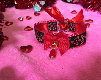 Tortured Hearts Day Collar- Red Version