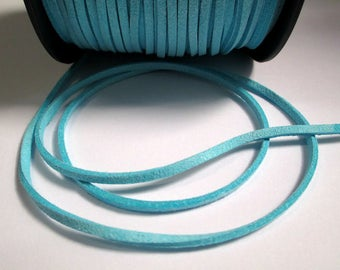 1 m cord Suede Blue 3 mm
