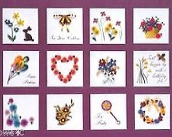 All Occasion GIFT TAGS Quilling kit #244