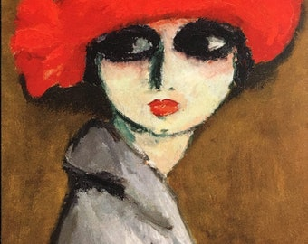 Le coquelicot by Kees van Dongen Home Decor Wall Decor Giclee Art Print Poster A4 A3 A2 Large Print FLAT RATE SHIPPING