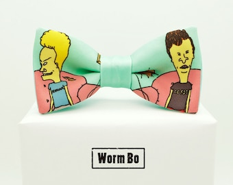 Beavis and Butthead Bow tie, Mint bowtie, Funny gift