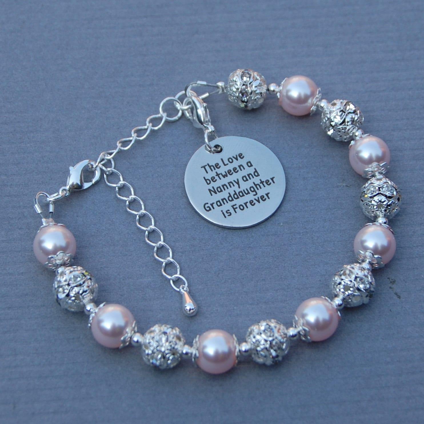 Nanny Birthday Charm Bracelet with Gift Box Womens Jewellery 6g5M1