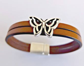 Bracelets for women, butterfly bracelet, leather jewelry, ladies bracelet, magnetic bracelets, boho chic, women bracelets, bohemian jewelry