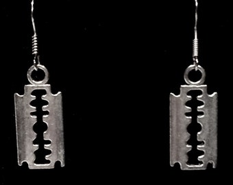 Silver Axe Earrings Handcrafted Hook Style Ear Wire & Hatchet