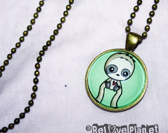 "Happy Sloth 1"" Pendant Necklace - or 2 for 20 - Positive - ReLove Plan.et"