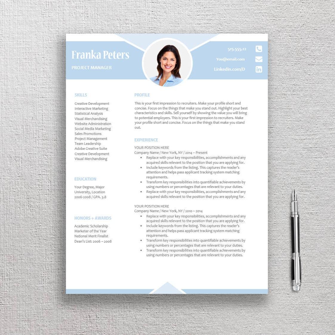 Kreative Lebenslauf Vorlage / CV Vorlage Professionelle und