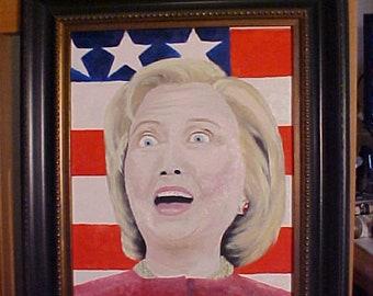 Hillary Clinton - Oil Painting peter B art L
