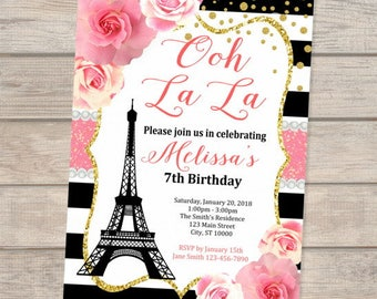 Paris invitation etsy paris birthday invitation filmwisefo