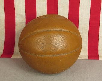 Vintage 1950s Montgomery Ward Leather Basketball Regulation Great Display Ball!