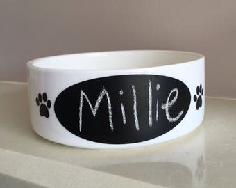 Chalkboard dog/cat feeding bowl