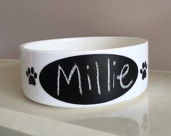 Chalkboard dog/cat feeding bowl