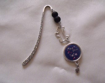 CLEARANCE Silver Blue bookmark proud auntie