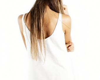 Organic Cotton Top, Long Two Slit Top,  organic shirts, organic clothing, organic tops, natural top, certified organic clothes, USA made