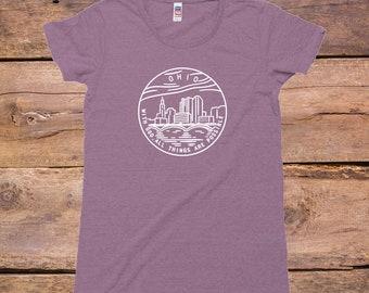 Ohio State Design - Women's TriBlend Old School T-Shirt