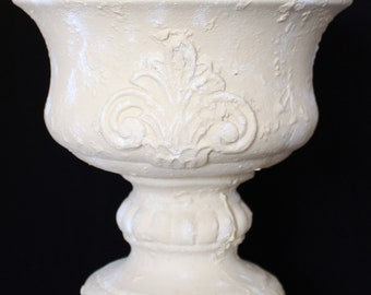 Tuscan Style Shabby Chic Urn Planter Ceramic