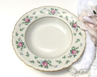 Princess China Sweet Briar Soup Bowls Scalloped Tru Tone Vintage Set (2) ~ #3053