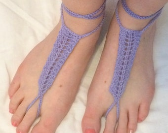 Barefoot Sandals, Purple Barefoot Sandals, Gray Barefoot Sandals, Green Barefoot Sandals, Teal Barefoot Sandals, Hand Made Barefoot Sandals