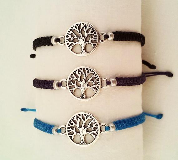 [Sponsored]Macrame Bracelet with Tree of Life Silver i1F7qqlk