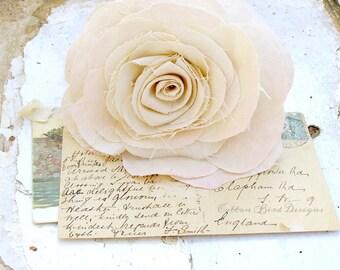 Anniversary Flower Long Stem Rose in Light Cream Gift for Her Gift for Him by Cotton Bird Designs