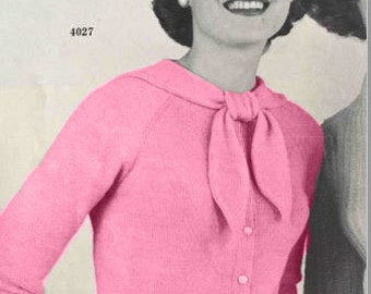 Ladies' vintage knitting pattern style 4027, Harding Yarns volume 105