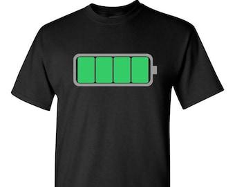Full Battery Shirt, Kid Shirt, Family Shirt, Funny Kid Shirt, Battery Shirt, Energizer Shirt, Battery Power, Full Power