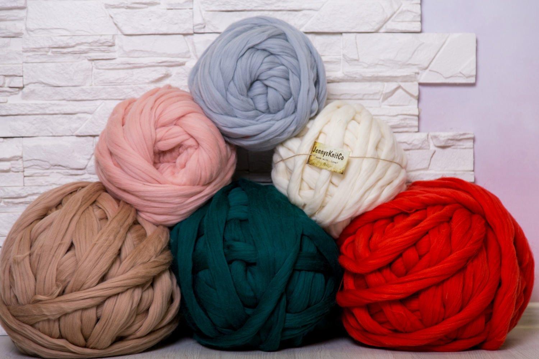Merino-Wolle Chunky Garn Roving Arm zu stricken Wolle