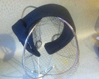 Vintage Black Headband Fascinator