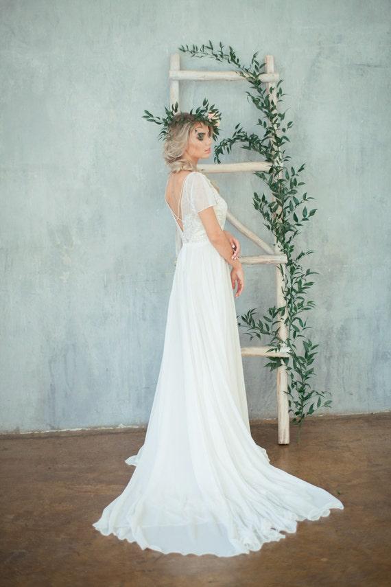 Boho wedding dress \'TEONA\' / Bohemian Wedding Dress