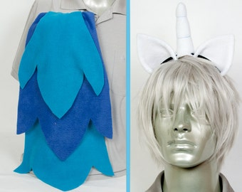 Vinyl Scratch Adjustable Ears and/or Tail - buy as a set or separate! Costume sized for Kids or Adults