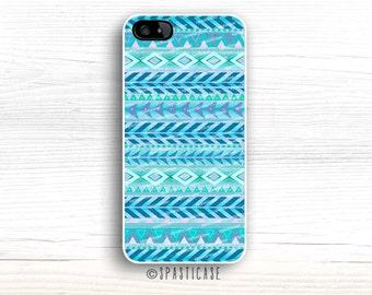 iPhone 6S Case, Aztec iPhone 5 Case, Geometric iPhone 5 Case, iPhone 6S Case, iPhone SE, iPhone 5C Plus Case, iPhone 6 Case Aztec Mint Blue