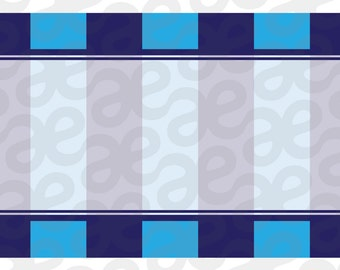 Blue Stripe theme: Printable Shipping Labels Instant Download
