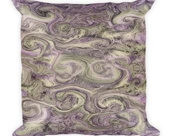 Purple yarn swirl Square Pillow