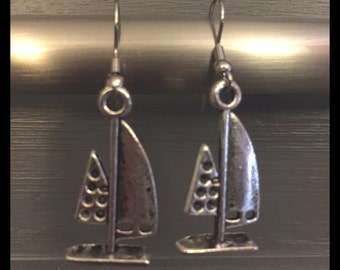 Sail Boat And Nautical Earrings