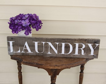 Laundry Room Sign, Laundry Room Decor, Rustic Laundry Room Decor, Wood Laundry Sign, Primitive Laundry Sign, Farmhouse Laundry Decor,