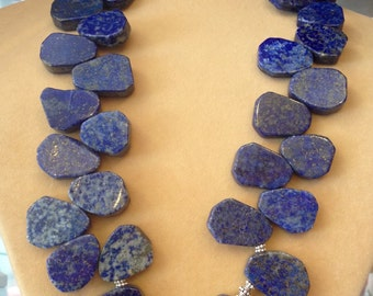 Genuine Lapis Lazuli Necklace Bali Sterling Silver Jewellery