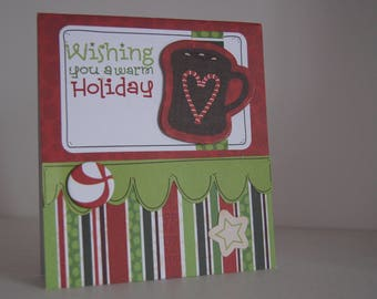 Beautiful Christmas hot chocolate card