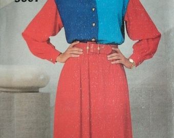Misses Misses Petite Dress Size 6-8-10 See & Sew by Butterick Pattern 3607 Dated 1994 UNCUT Pattern Rated EASY to Sew