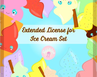 Extended License for Ice Cream Clipart Set