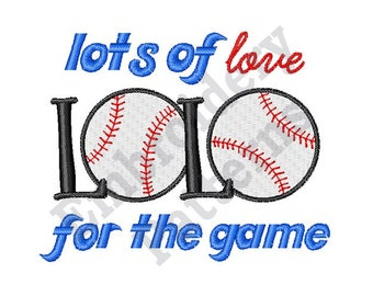 Lots Of Love For The Game  - Machine Embroidery Design