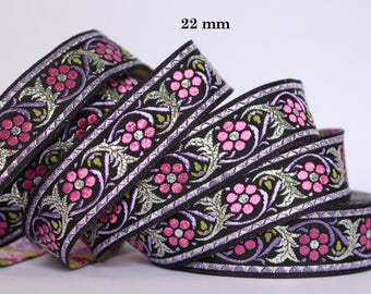 to order! 10 m couture lace embroidered Jacquard * 22 mm wide