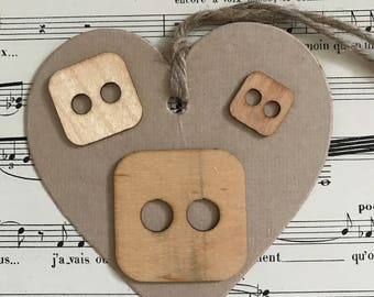 Square wood buttons