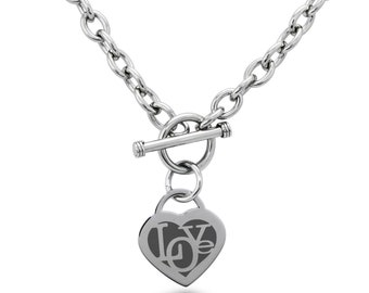 Stainless Steel Iconic Love Heart Heart Charm, Necklace / Silver / Gold / Rose Gold