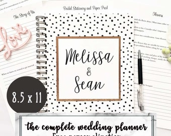 Personalized Wedding planner book, engagement gift for bride, custom wedding planning book, wedding checklist, wedding planner binder