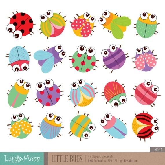 little bugs clipart rh etsy com clipart bushes clipart bus