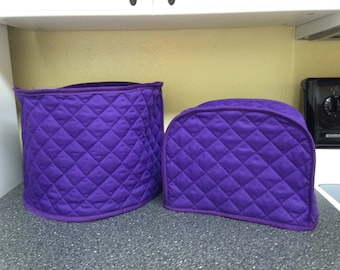 Purple Small Appliance Covers Set Quilted Fabric Covers for Kitchen Appliances Made to Order